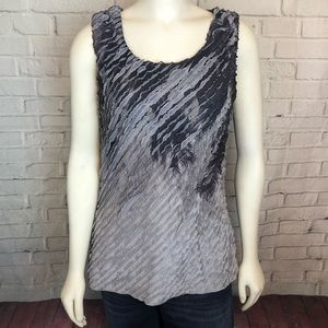 Coldwater Creek Tank Top Sleeveless Blouse Gray M